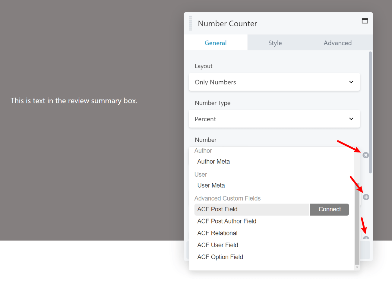 Options for dynamic content