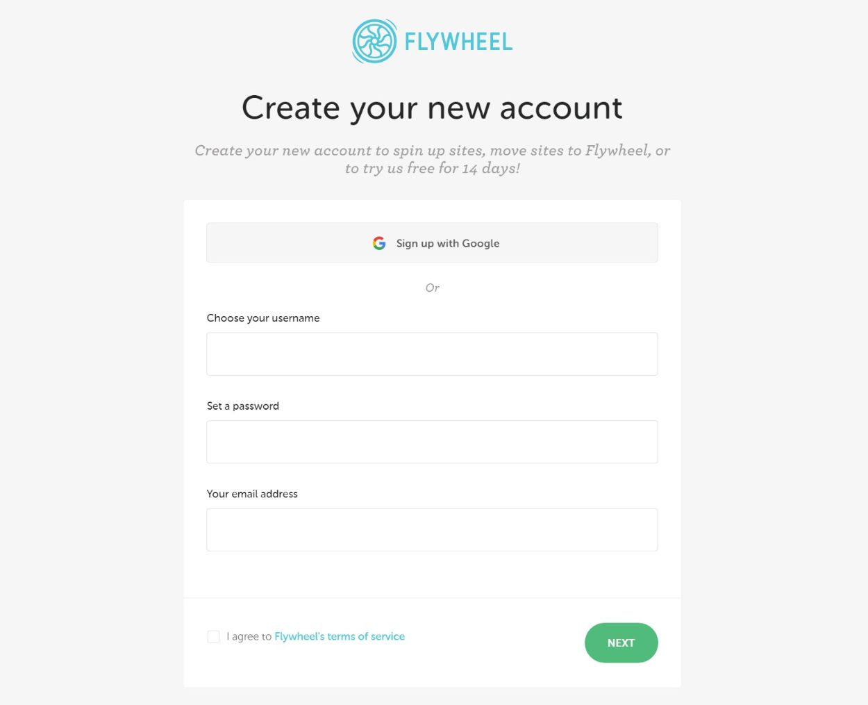 Enter Flywheel profile information