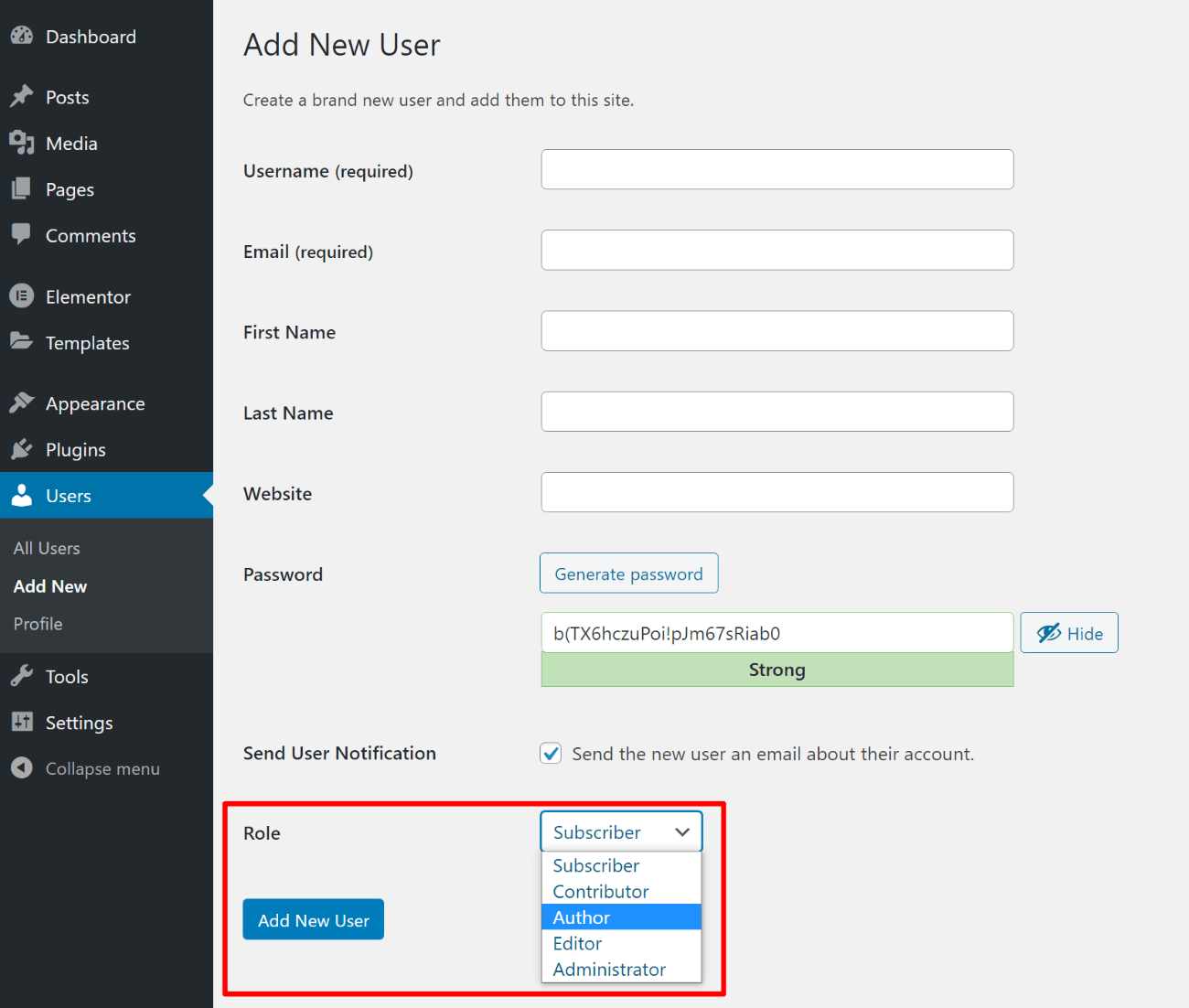 How to set WordPress user role for multiple author site