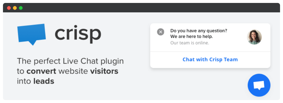 The Crisp Live Chat plugin.