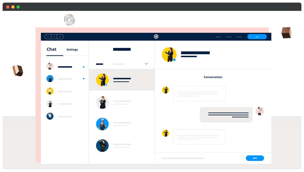 The Sendinblue chat website.