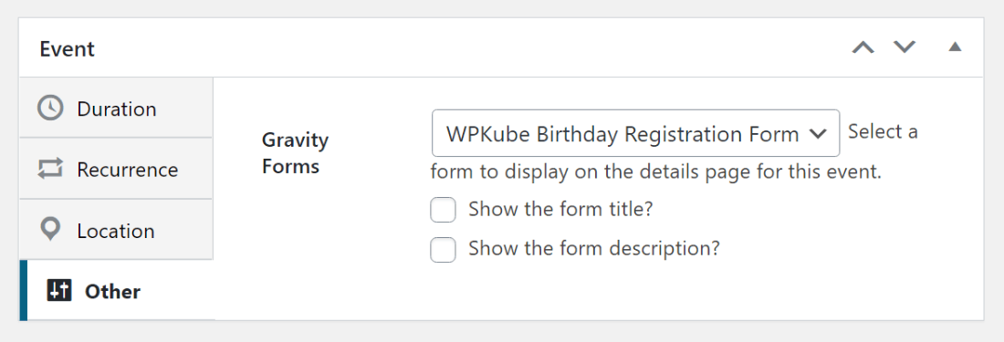 Event registration forms