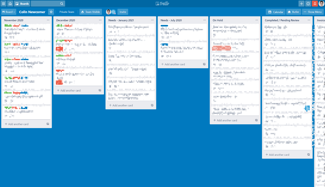 Trello for a multiple author WordPress blog