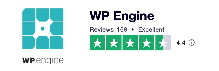 WP Engine Trustpilot score