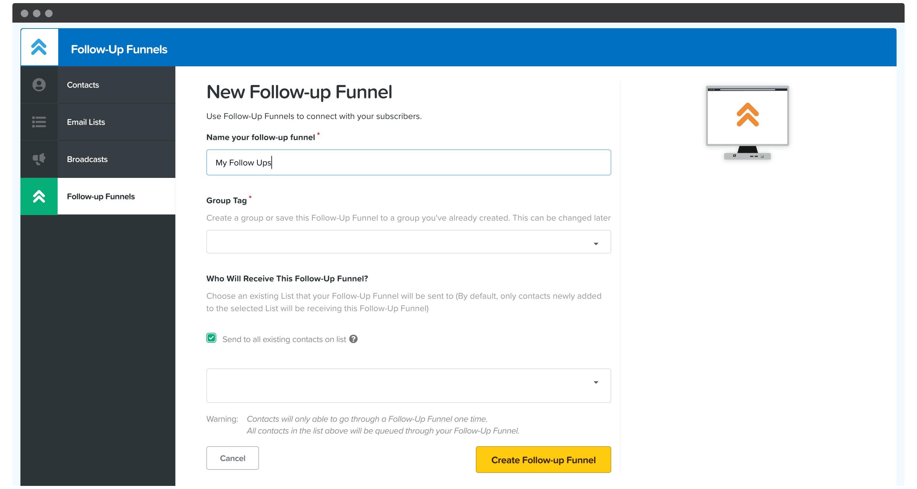 ClickFunnels' Follow-Up Funnels.