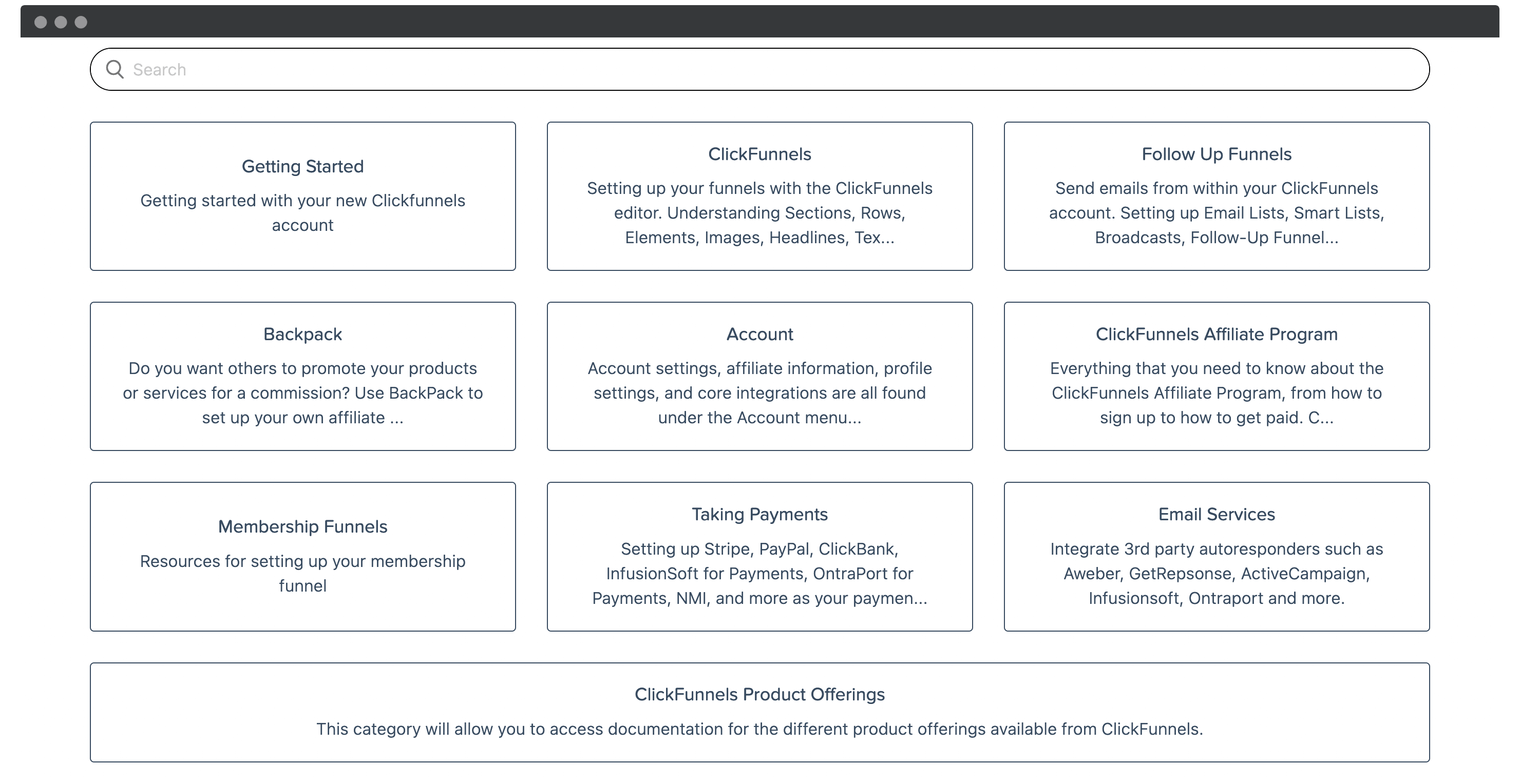 ClickFunnels' knowledge base.
