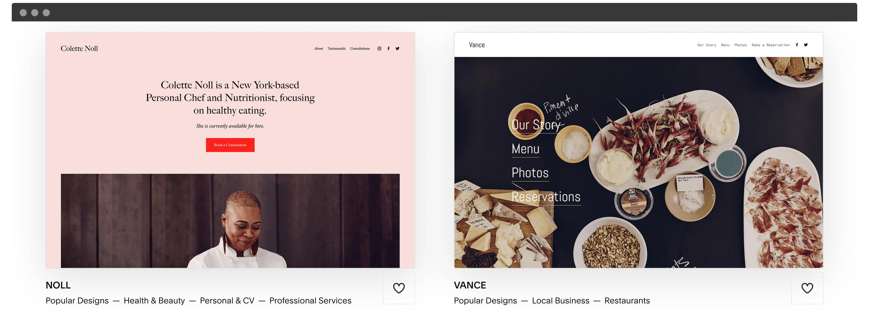 Squarespace's templates.