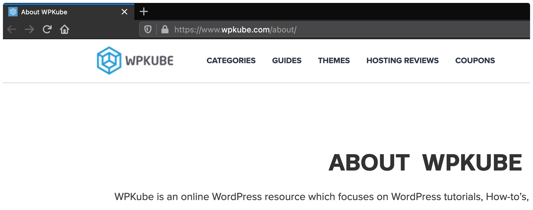The WPKube About page.