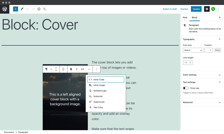The WordPress Block Editor.