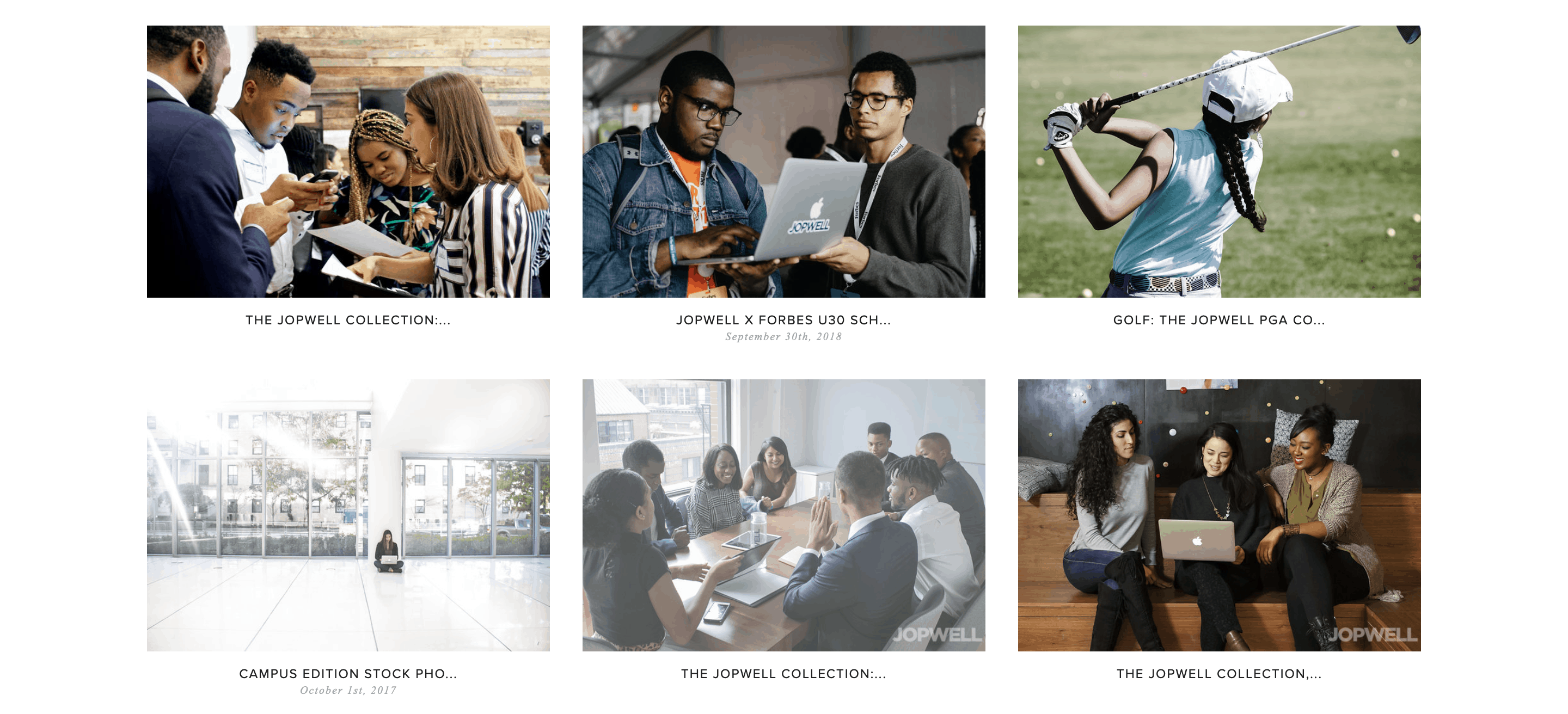 The Jopwell Collection website.