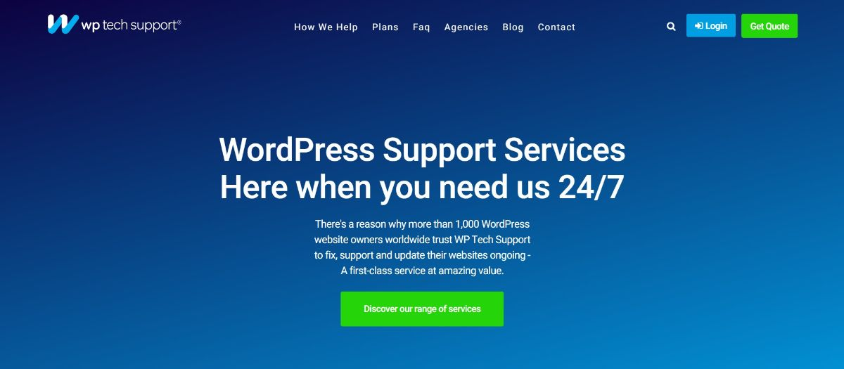 WP Tech Support is one of the cheapest WordPress maintenance services