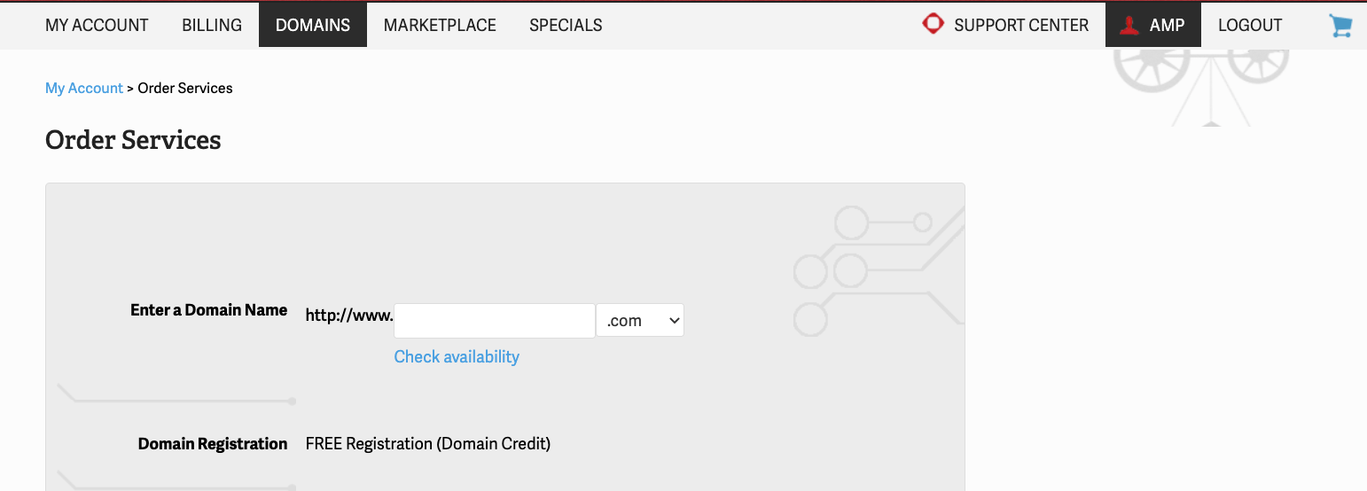 Free domain with InMotion Hosting