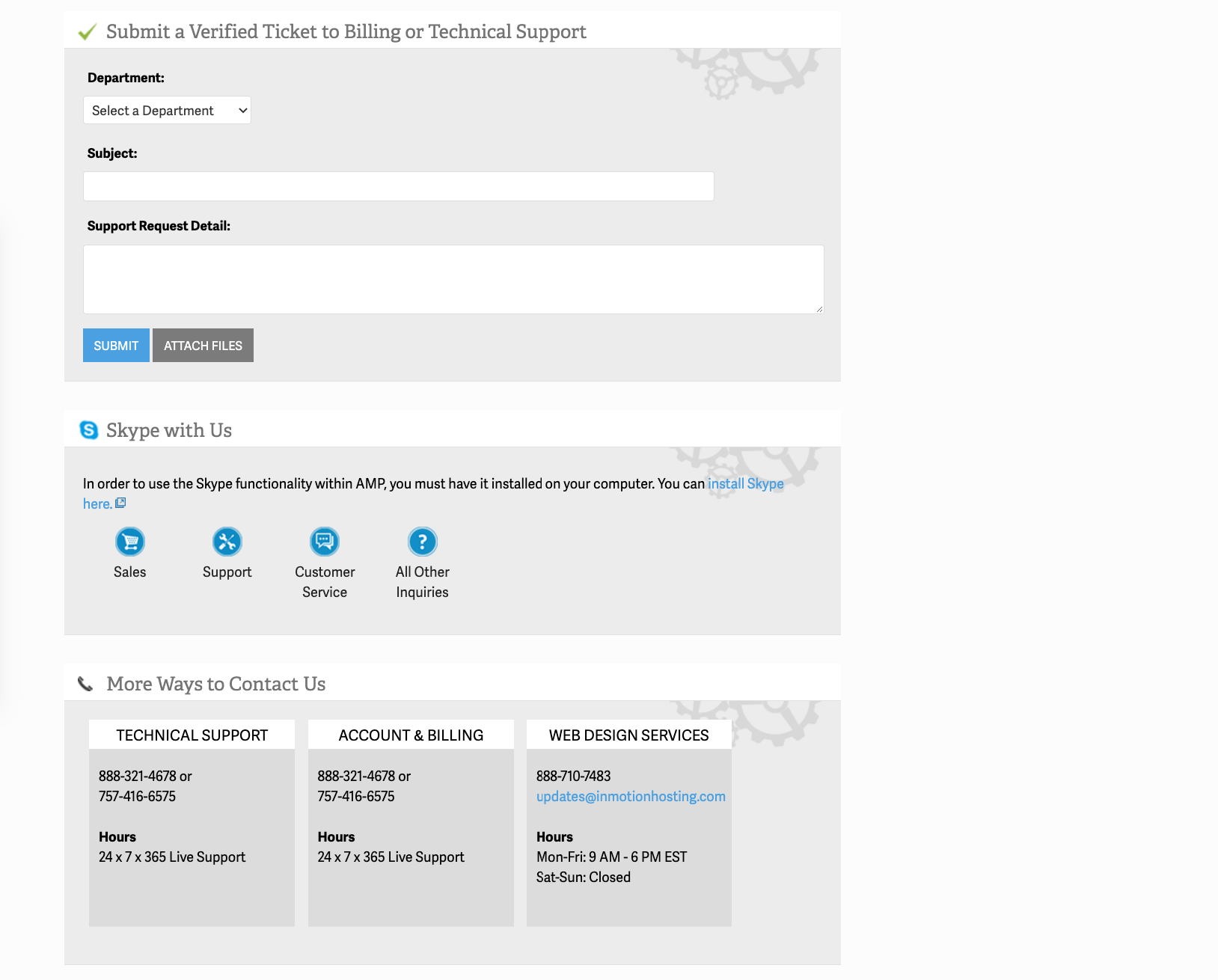 InMotion Hosting review: support