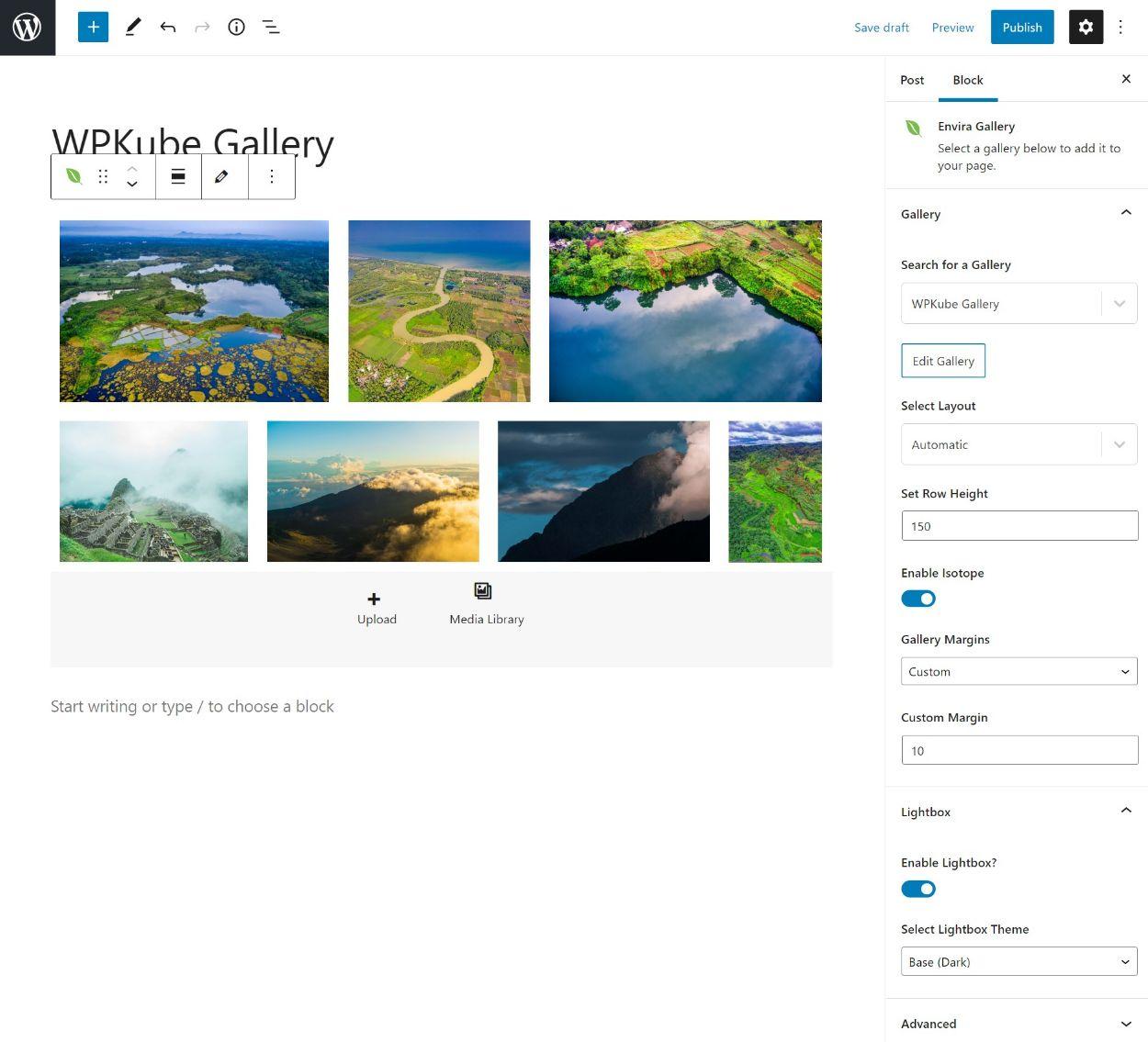 Envira Gallery block