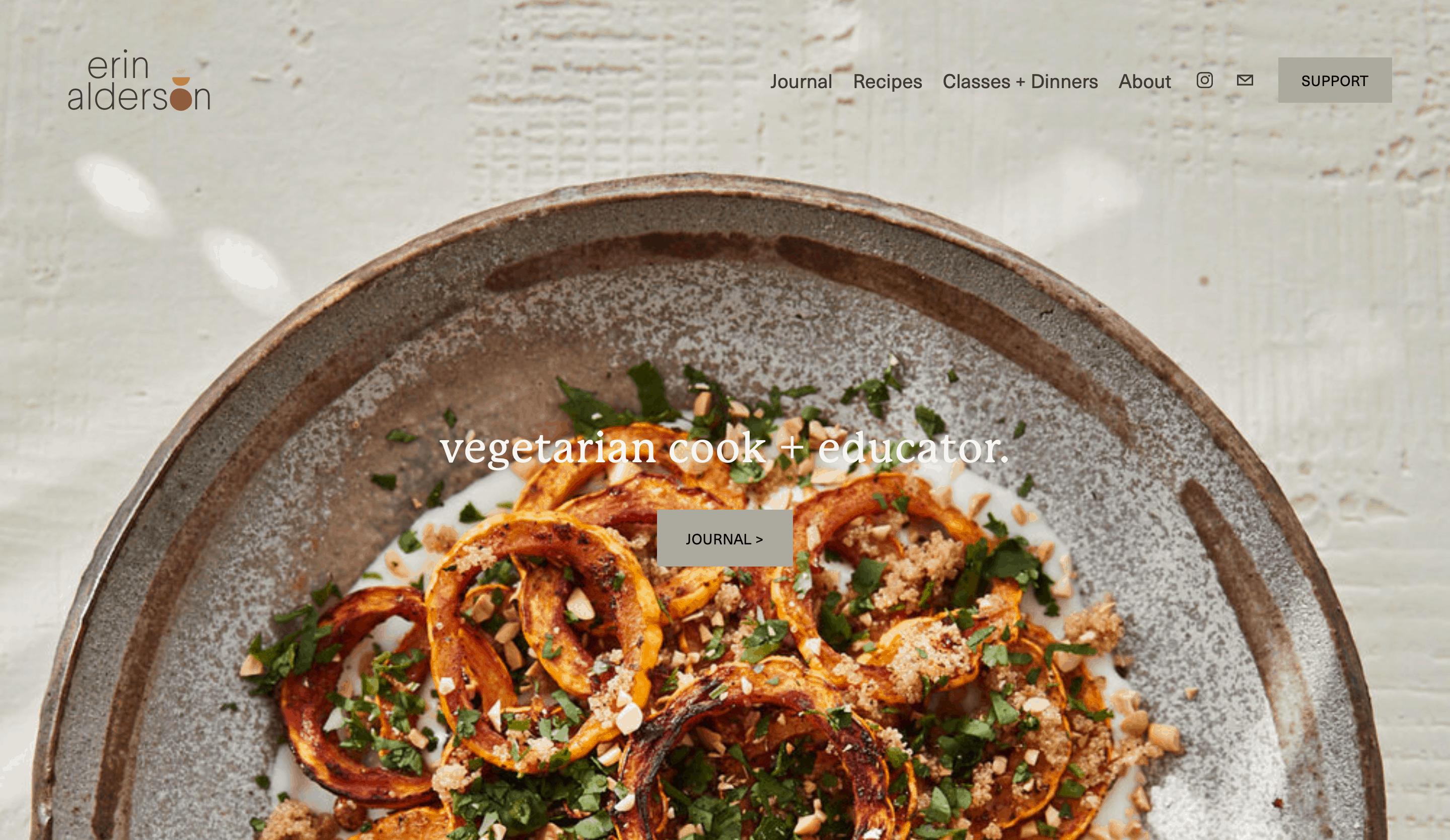An example of a food blog.