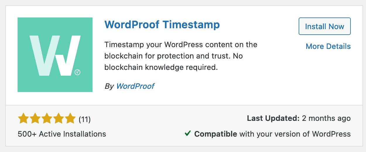 نصب افزونه WordProof.