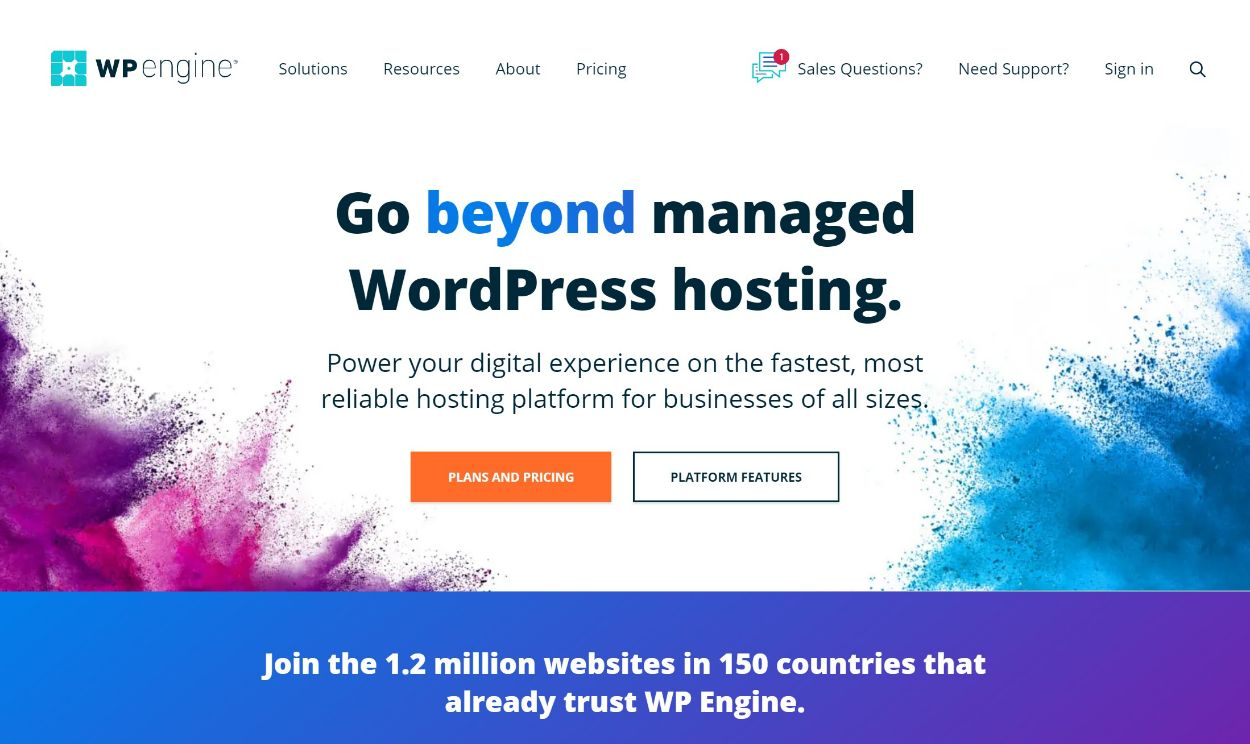 WP Engine managed WordPress hosting
