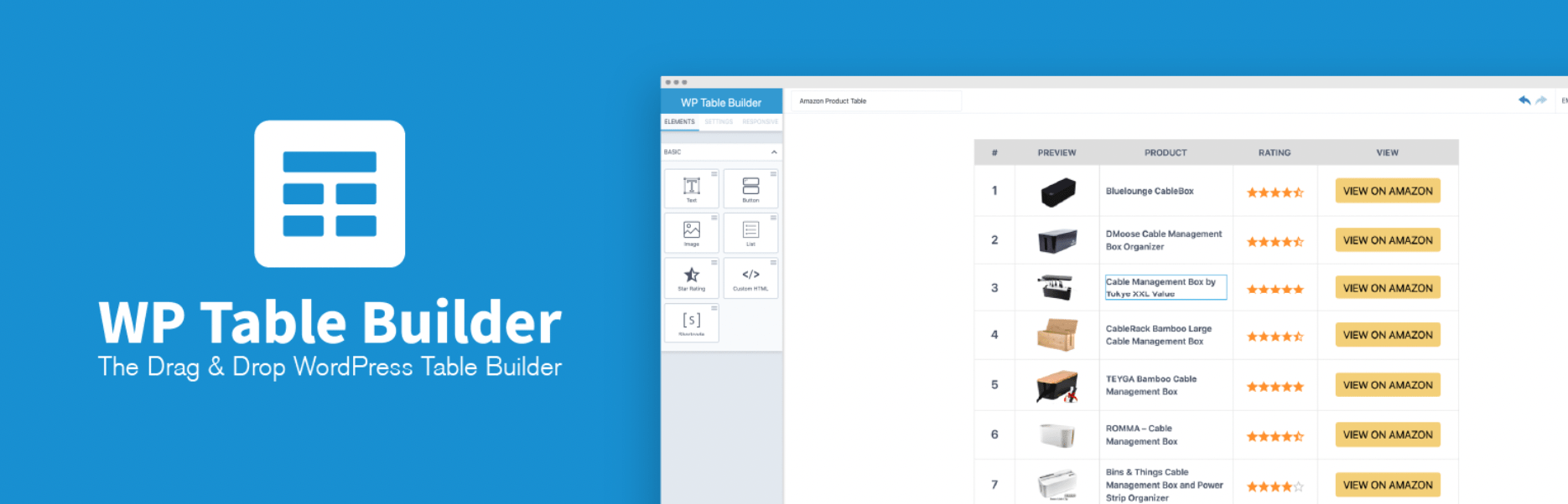 The WP Table Builder plugin.