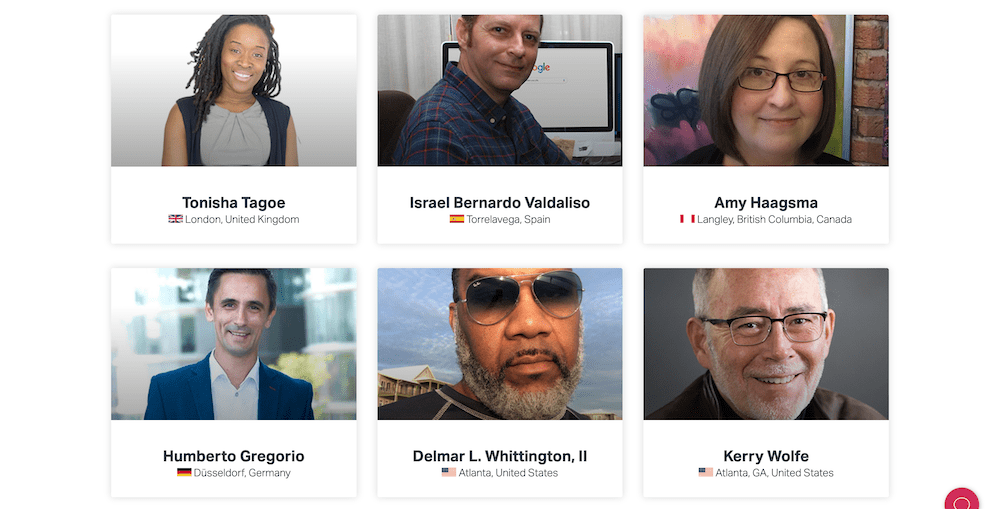 Some of Elementor's community leaders.