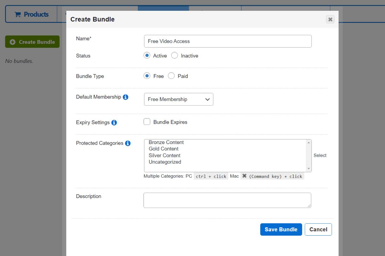Creating a bundle