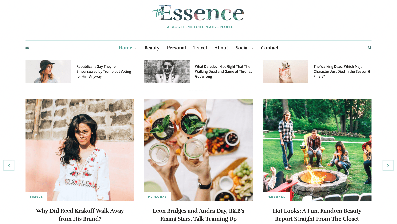 The Essence theme.