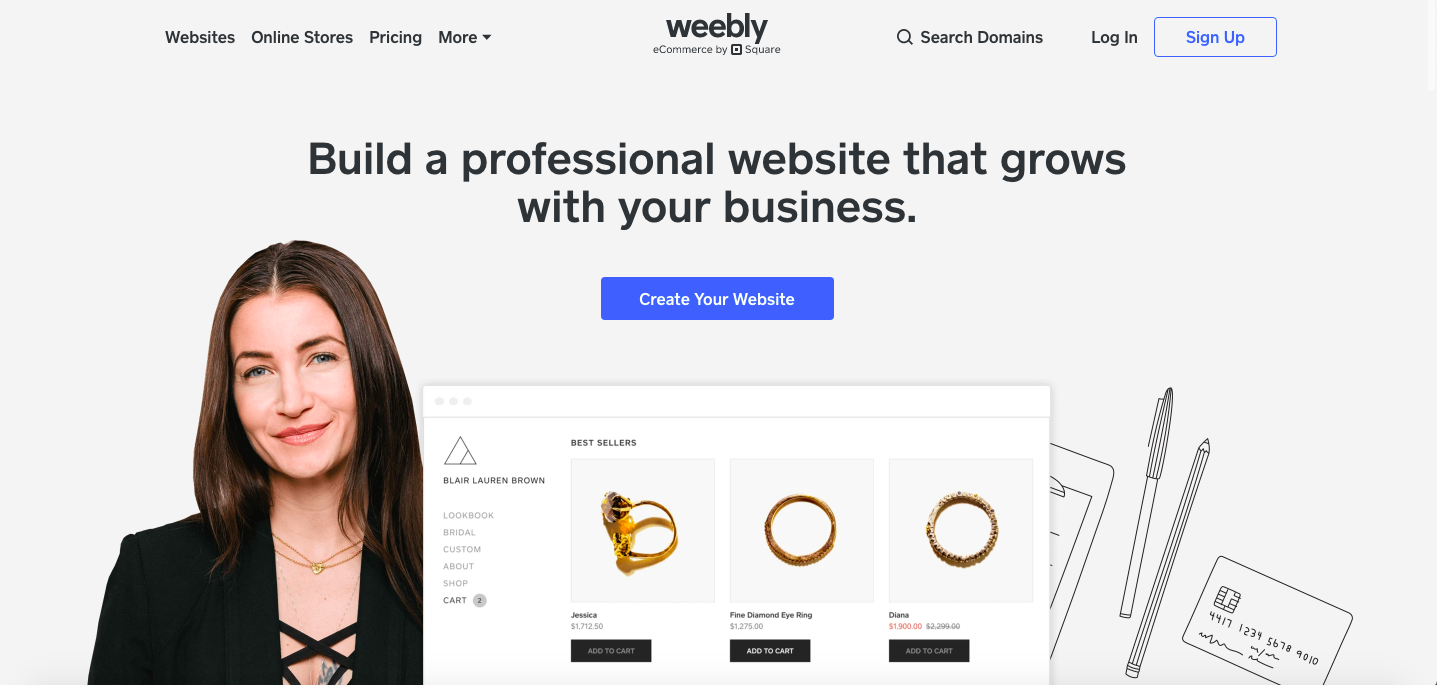 Weebly - a popular alternative to Wix