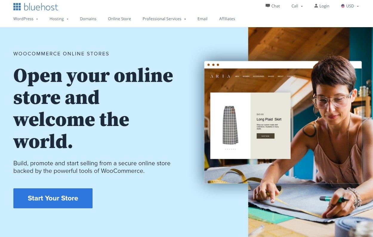 Bluehost WooCommerce hosting