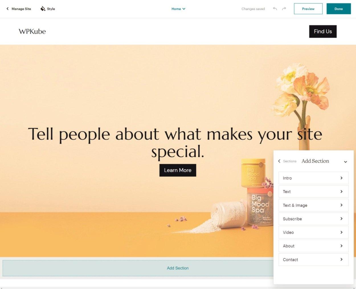 Mailchimp website builder
