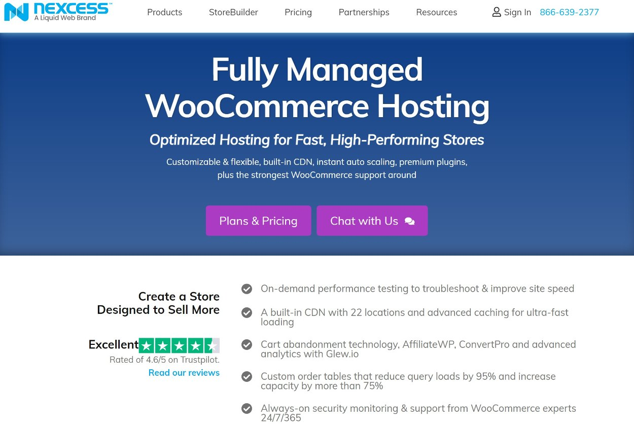 Nexcess might be the best managed WooCommerce hosting