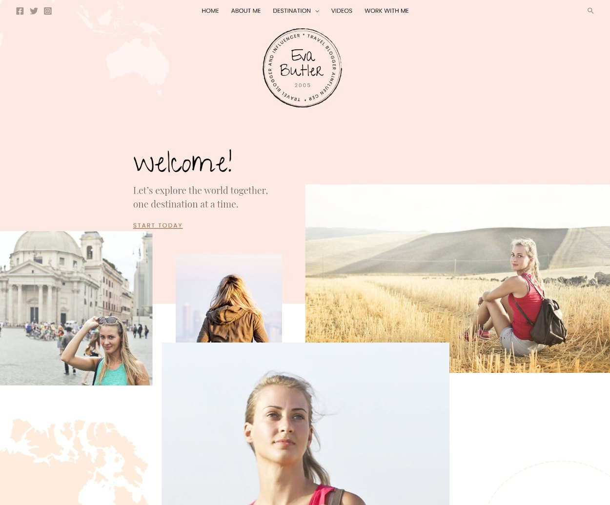Travel Blogger and influencer demo
