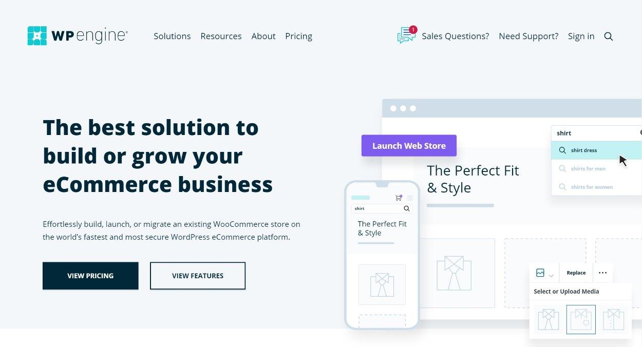 WP Engine WooCommerce hosting