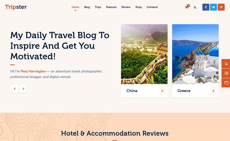 Tripster - Travel WordPress Theme