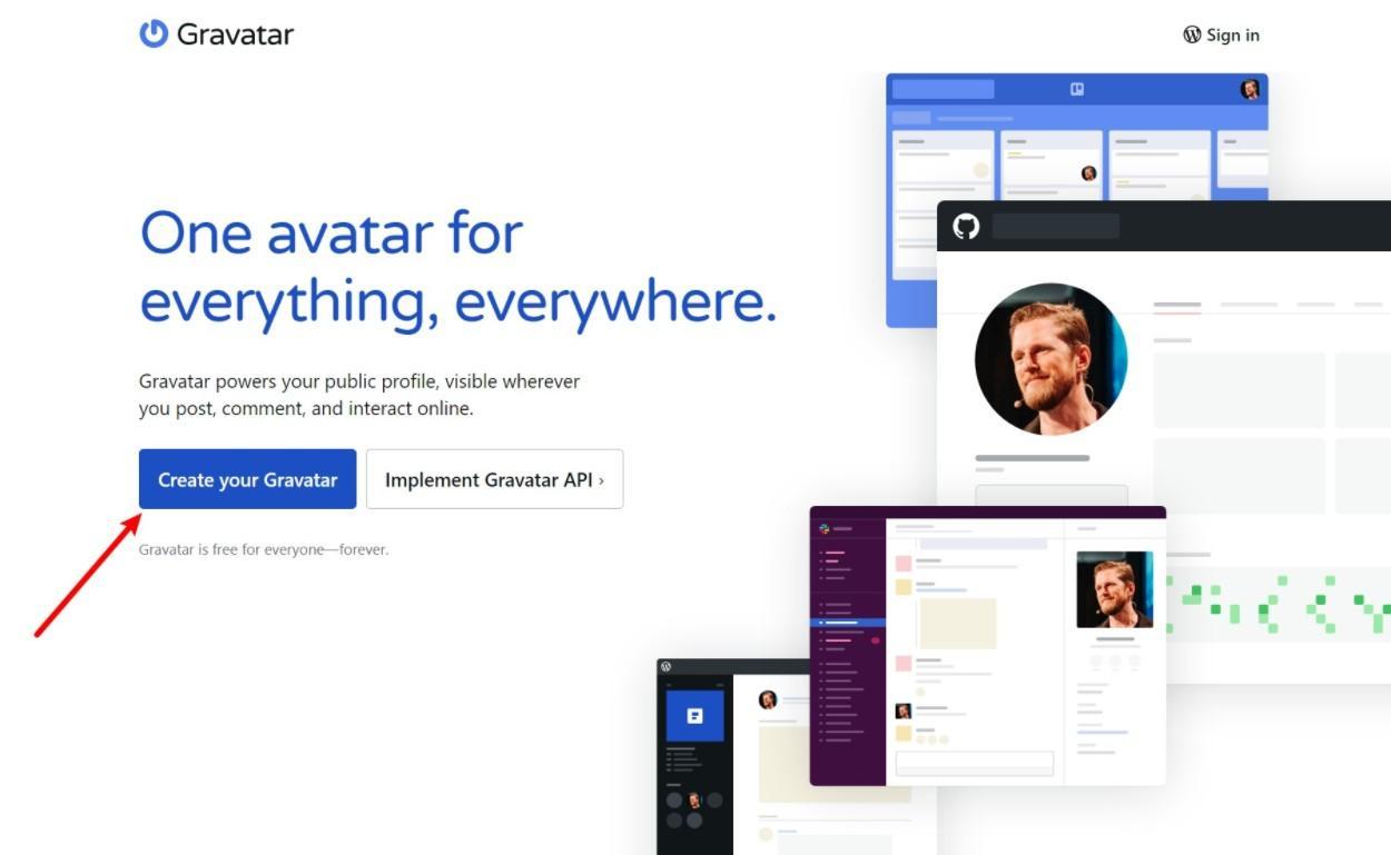 Create a Gravatar account