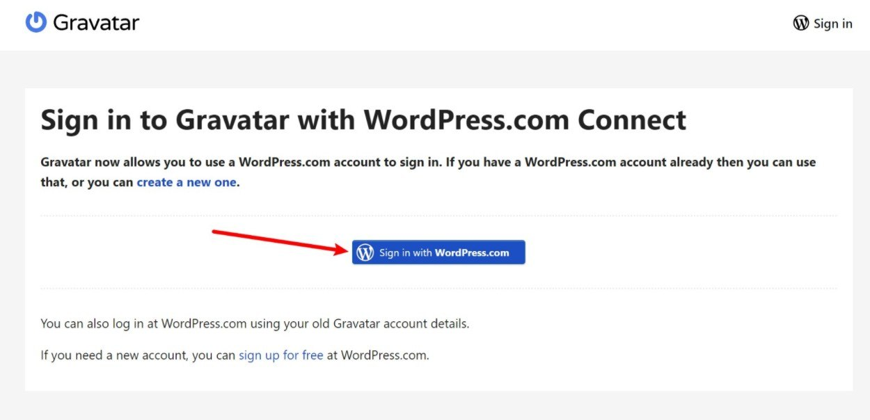 Sign in with WordPress.com